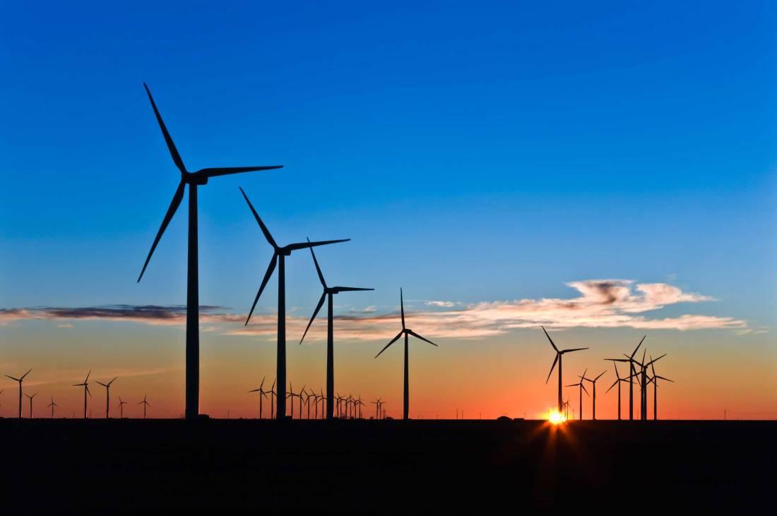Wind Turbines at Sunrise